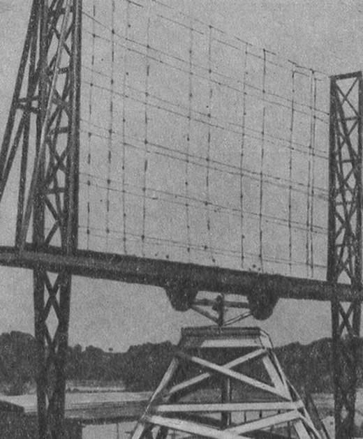 Вращаемая антенна первой РЛС США, конец 30-х гг.