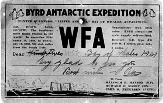 QSL WFA, 1929 г.