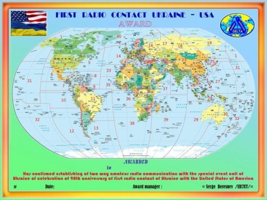 «FIRST RADIO CONTACT UKRAINE – USA»