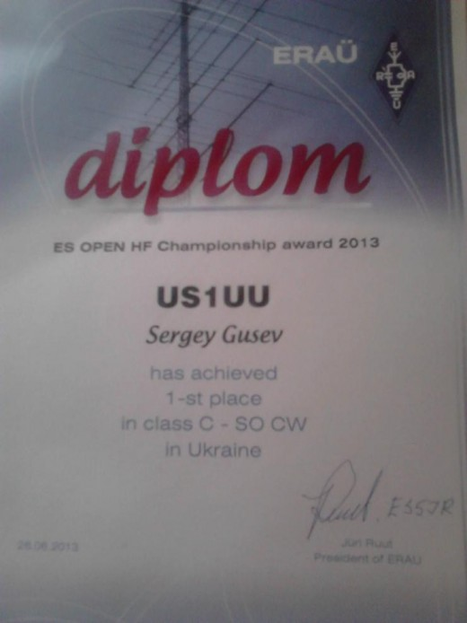 diplom OPEN HF Championship