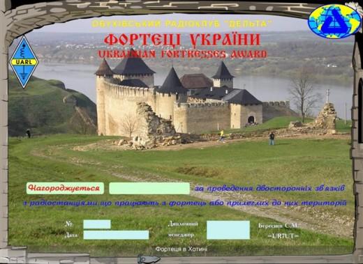 """Диплом """"Крепости Украины"""""""